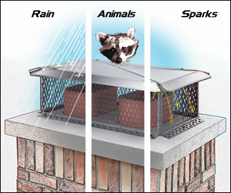 chimney caps keep rain and animals out