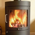 Modern freestanding wood stove