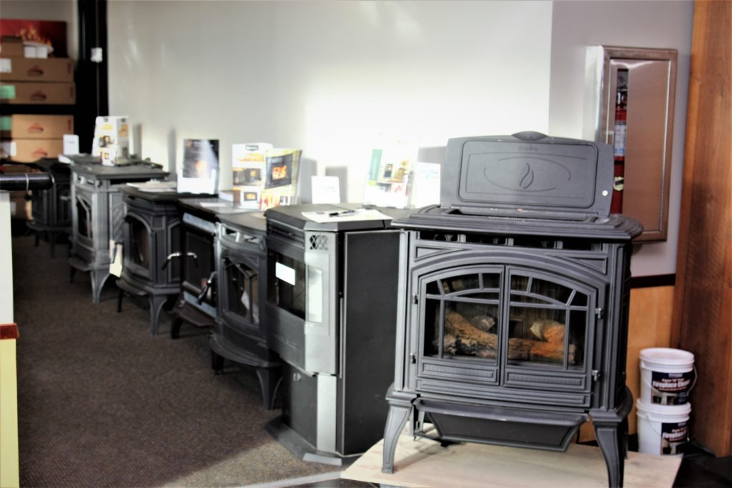 Cincinnati Showroom with gas and wood stoves