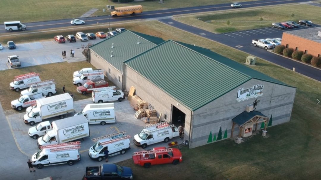 Chimney Works & Rocky Mountain Stoves Building Arial View