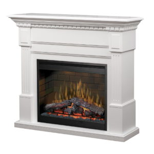 A white TV Stand Fireplace